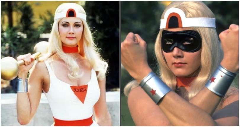 Check out the bodacious Lynda Carter as a blonde in 'The New Original Wonder Woman,' 1975