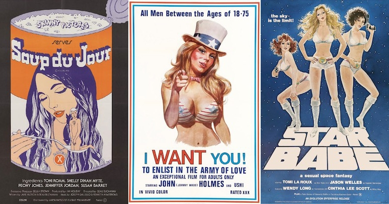 Dazzling movie posters from the golden age of adult cinema