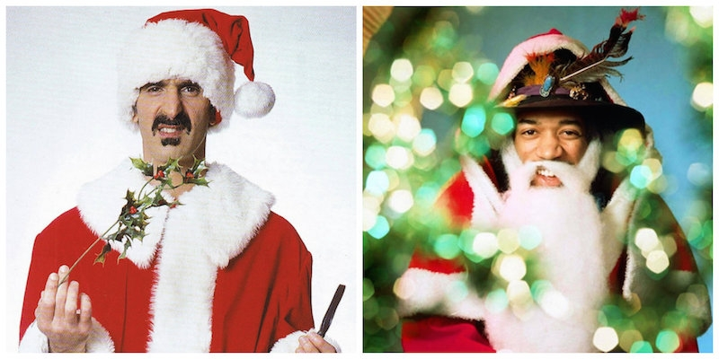 Alice Cooper, Jimi, James Brown, Marc Bolan, Frank Zappa (and many more) do Santa