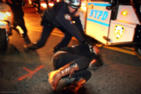 Jenna Pope: Photographs of NYPD brutality at vigil protesting the killing of Kimani Gray