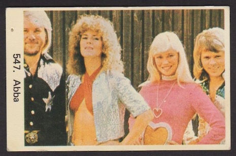 ABBA Swedish vintage gum trading card, 1970s