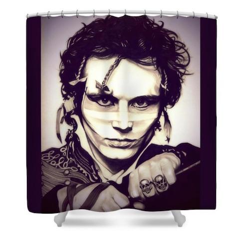 Adam Ant shower curtain