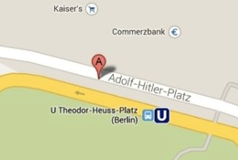 Adolf-Hitler-Platz, Google