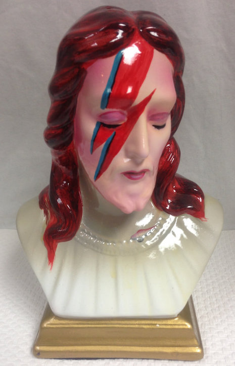 Ceramic bust of Jesus as Aladdin Sane