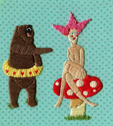 Bear and a mushroom