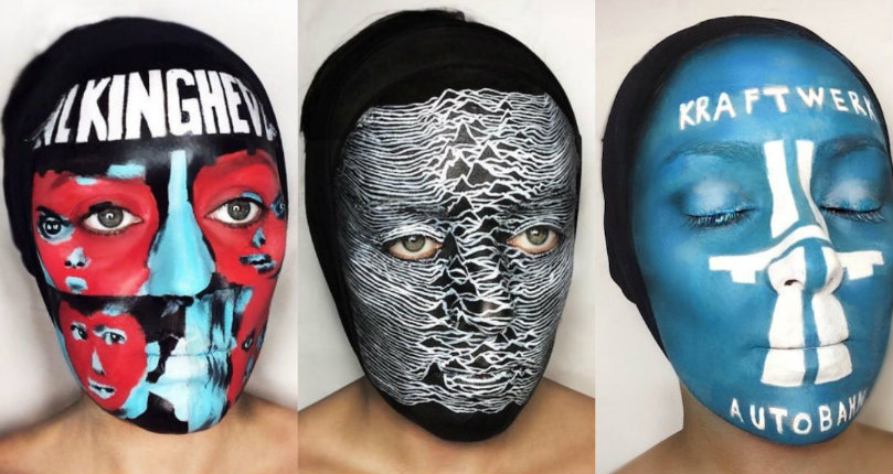 Amazing album cover face paint