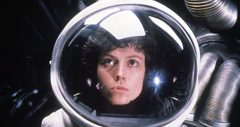 Behind-the-scenes photographs from the set of 'Alien' (1979)