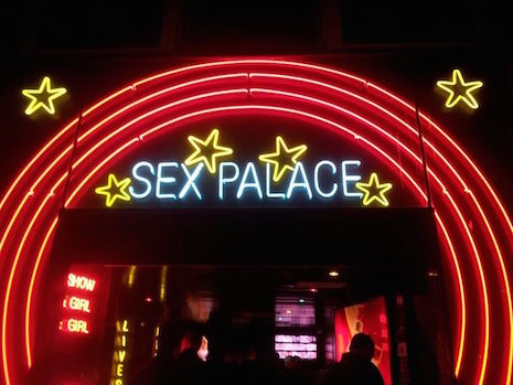 Neon sign for the