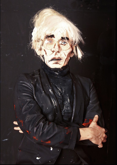 Andy Warhol living sculpture