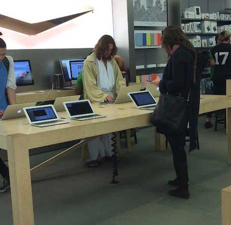 Apple-ის მაღაზიაში იესო დააკავეს