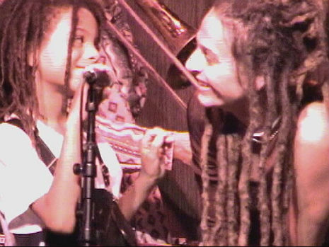The Slits' Ari Up jams with her 9-year-old son on NYC Ska TV Show, 2003