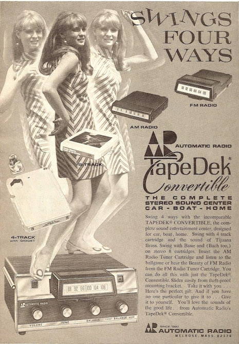 Automatic Radio Tape Dek Convertible ad, 1970s