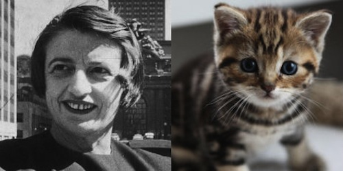Ayn Rand 'objectively' explains to 'Cat Fancy' that cats are awesome, 1966
