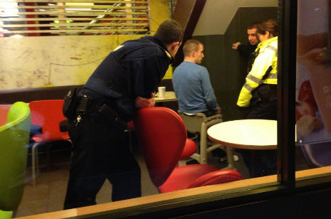 Not lovin' it: Police rescue man stuck in a baby chair at McDonald's