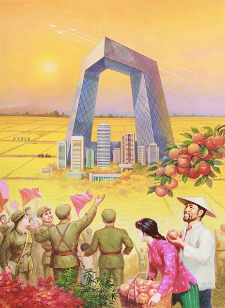 North Korean paintings of contemporary China as a socialist utopia