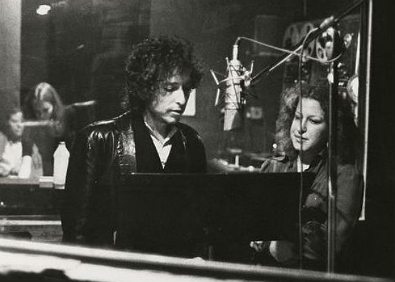 Be a fly on the wall when Bob Dylan and Bette Midler went into the studio together, 1975