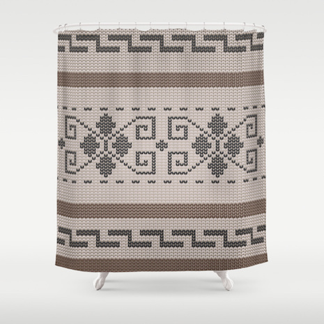 The Dude's sweater from The Big Lebowski shower curtain