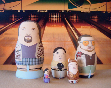 The Big Lebowski Russian nesting dolls