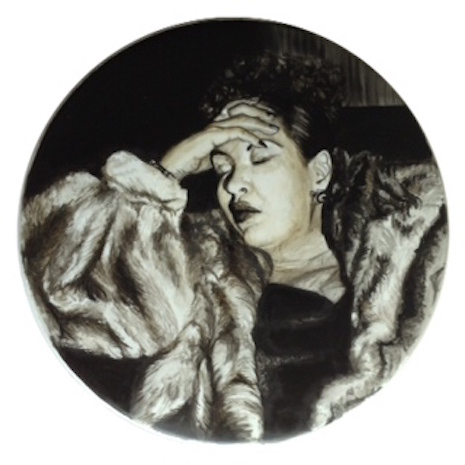Billie Holiday drum art by Nicold Di Nardo