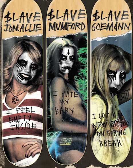 Black Metal Chicks skate deck series