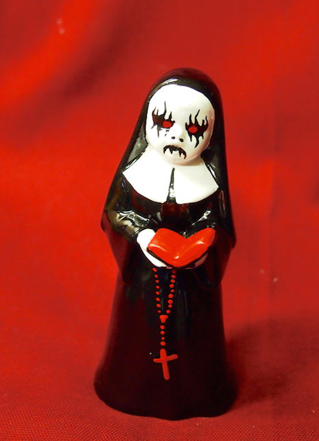 Black metal nun by Coffin Collector