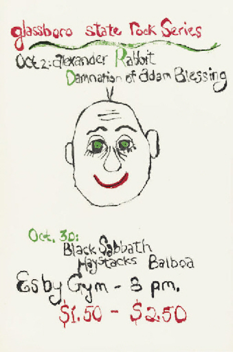 Black Sabbath Glassboro show poster Christies