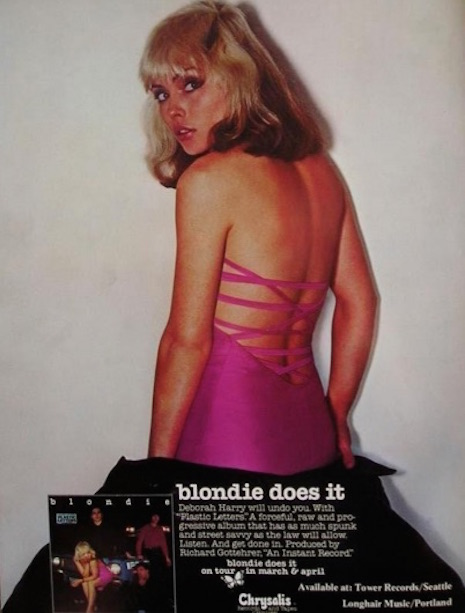 Promo ad for Blondie's Plastic Records, 1978