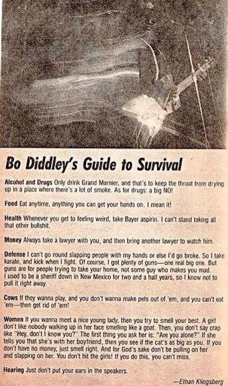 bo diddley's guide to survival