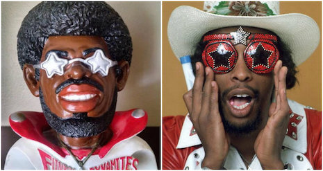 Bootsy Collins reacts to the vintage 1970s Bootsy Collins ashtray the way we all did