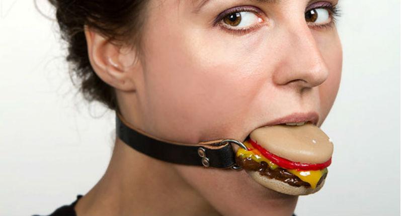 'Silencing Slider': Cheeseburger ball gag