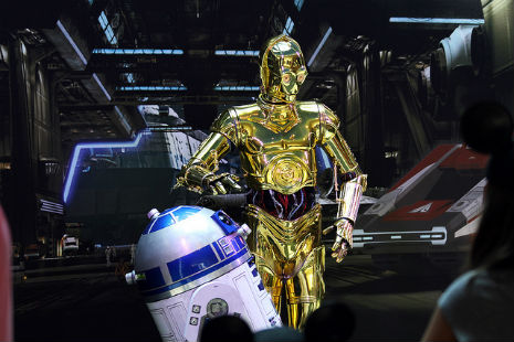 C-3PO rapping, but don't worry, your childhood was already dead