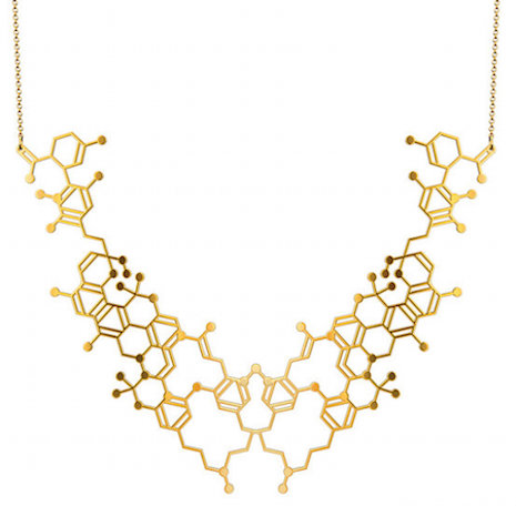Cannabis molecular necklace