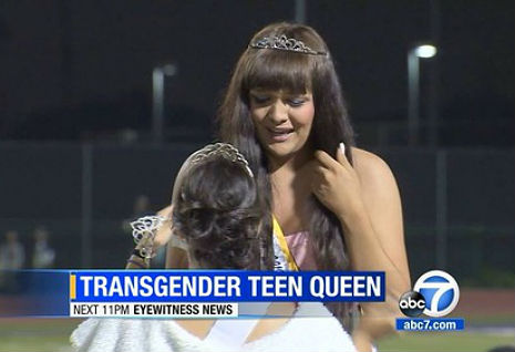 Emotional scene as trans teenager is crowned high school homecoming queen