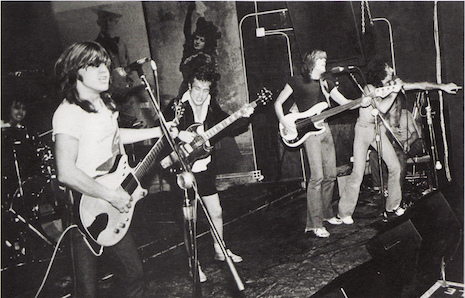 AC/DC playing an impromptu gig at CBGB's, August 27, 1977