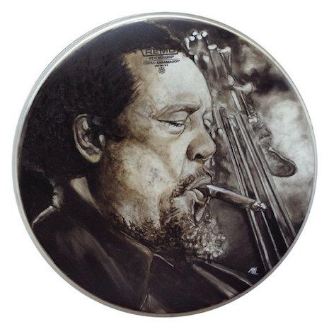 Charles Mingus drum art by Nicole Di Nardo