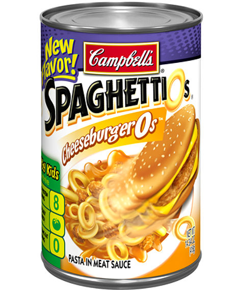 Oh no SpaghettiO: Cheeseburger-flavored pasta in a can