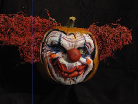 Clown pumpkin by Jon Neill