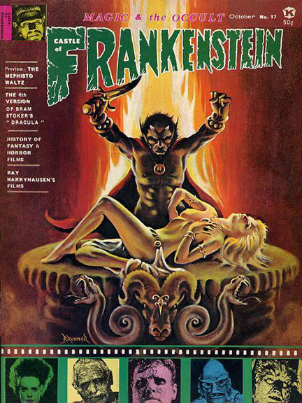 Castle of Frankenstein: The first US magazine to seriously cover comics, horror & underground films