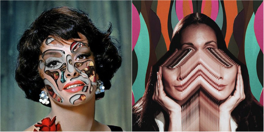 Disturbingly beautiful collages of Hollywood stars