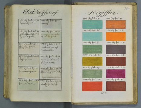 What, no 'atomic tangerine'? The Pantone Color Guide of the year 1692