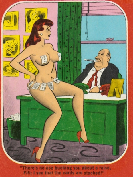Humorama illustration by Don DeCarlo, 1950s