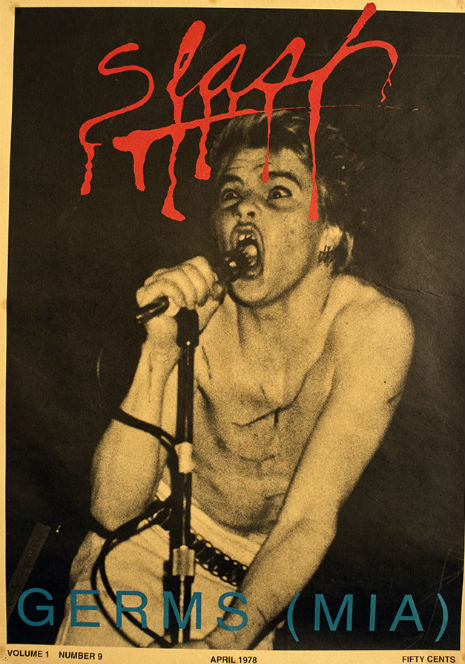 Darby Crash on Slash cover