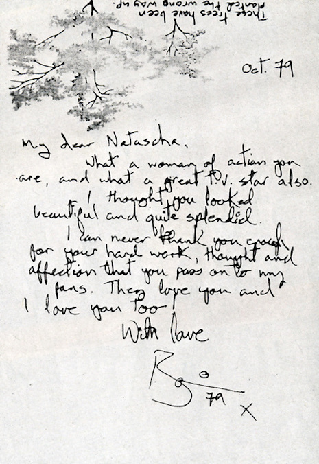 David Bowie's handwritten letter to his friend, designer Natascha Korniloff, 1979