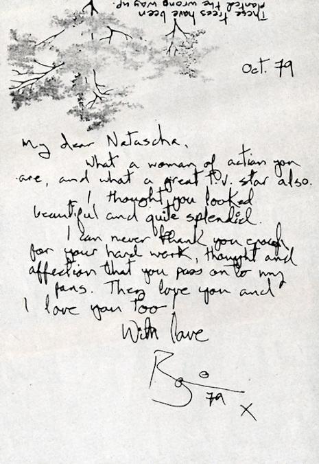 David Bowie's handwritten letter to his friend, designer Natascha Korniloff, 1979
