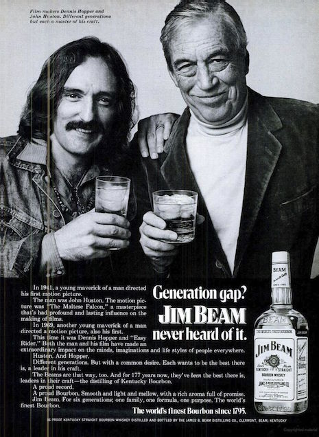 Dennis Hopper and John Huston for Jim Beam