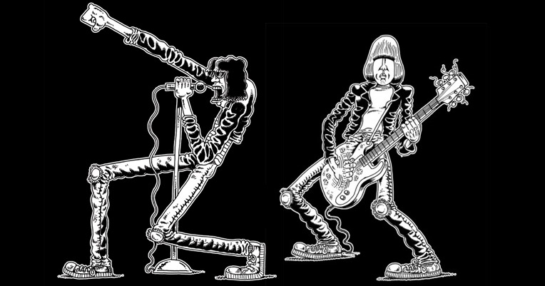 Awesome Ramones T-shirts, drawn by the author of 'My Friend Dahmer'