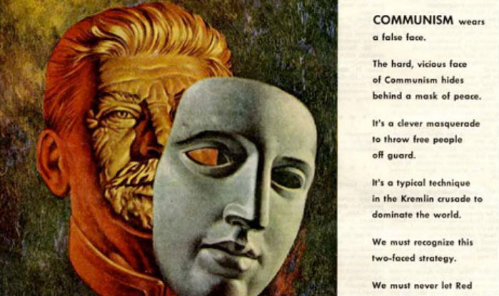 Creepy anti-communist propaganda from Bohn Aluminum and Brass Corporation, 1952