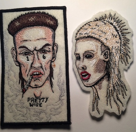 Ninja and Yolandi of Die Antwoord hand made patch