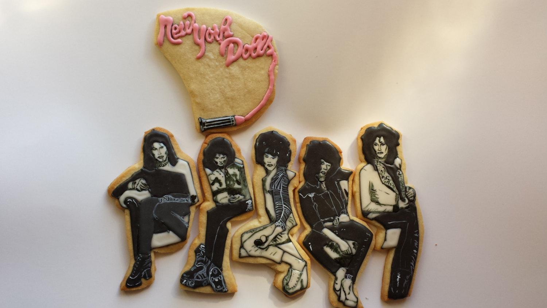 Ramones and the New York Dolls cookies