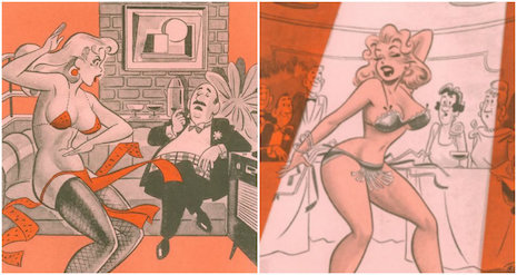 Don DeCarlo's Humorama illustrations from the 1950s
